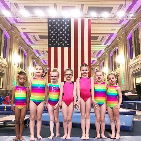 pre-team girls gymnastics